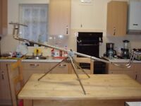 Custom Made Rare Stainless Steel Tripod Heavy Duty - Extendable - Has Padded Case Only £125
