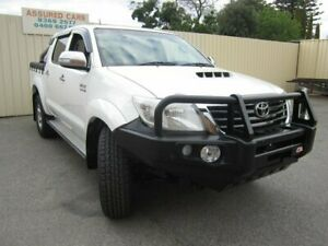 2013 Toyota Hilux KUN26R MY12 SR5 (4x4) Glacier White 5 Speed Manual Dual Cab Pick-up Windsor Gardens Port Adelaide Area Preview