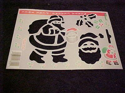 Christmas Stencils Santa Snowman Angel  Stocking Snowflake  Candy Cane Mitten