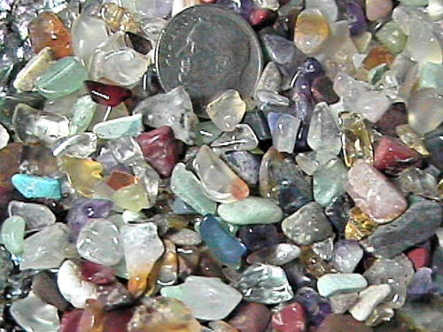 Mixed Gemstone Embellishment UNDRILLED Small Chips 50g (1.75 oz)