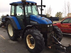 2002 new holland ts110 plow tractor