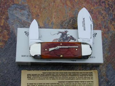 CLASSIC WINCHESTER BRNT ORANGE RIFLE SERIES SUNFISH TOE NAIL USA KNIFE w CASE NM