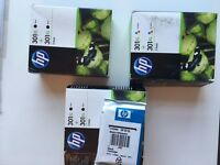 HP 301XL Black & Colour Print Cartridges - NEW