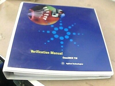 Agilent Omniber 718 Verification Manual 37718-90225