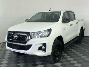 2019 Toyota Hilux GUN126R SR Double Cab White 6 Speed Manual Cab Chassis Arndell Park Blacktown Area Preview