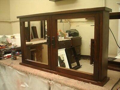 Primitive Mission Medicine Cabinet / 2 doors / Solid Wood # handmade # - Mission 2 Door