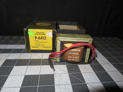Vintage Nos Stancor P-6412 Isolation Transformer 4190