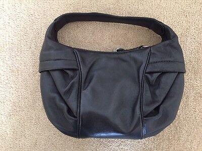 Donald J. Pliner Women's Purse Leather Hobo Zipper Pocket Evening Bag Small  Hobo Black Evening Bags