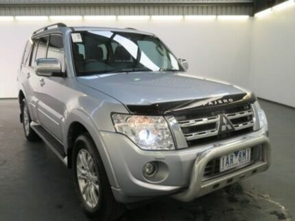 2013 Mitsubishi Pajero NW MY13 Exceed LWB (4x4) Silver 5 Speed Auto Sports Mode Wagon Albion Brimbank Area Preview