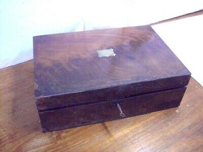 Victorian Writing Slope/ Box~ WITH Key ~ needs restoring
