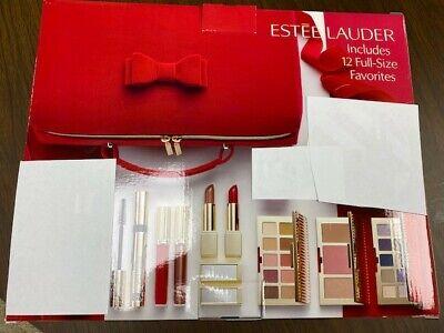 2020 Estee Lauder Blockbuster Holiday Christmas Make Up Gift Set Train Case READ