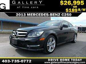 2013 Mercedes C250 Coupe $189 bi-weekly APPLY NOW DRIVE NOW