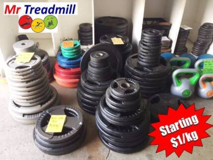 WEIGHT PLATES >> STARTING AT $1.00/KG | Mr Treadmill