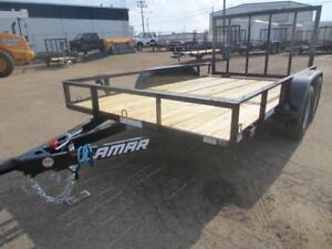 83 x 12' UTILITY TRAILER 7K, 4' LAY DOWN GATE WITH SPRING ASSIST
