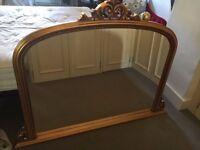 Gilded overmantel mirror