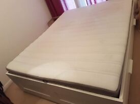 URGENT!!!! King size bed and mattress with integrated storage