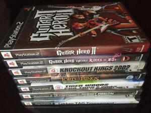 NINE PS2 GAMES AND 2 ORIGINAL XBOX GAMES
