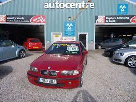 BMW 3 SERIES 2.5 325I SE 4d 190 BHP full mot (red) 2001