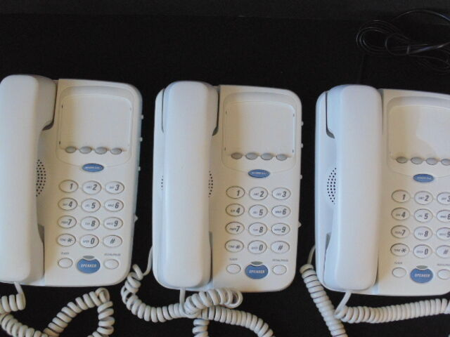 Lot (3) GE 29318GE1 Corded Speakerphones Memory Dialing Pause Parts Props Office