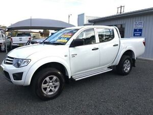 2012 Mitsubishi Triton MN MY12 GLX (4x4) White 4 Speed Automatic 4x4 Double Cab Utility Gloucester Gloucester Area Preview