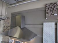 "BRAND NEW 48"" WALLMOUNT RANGE HOOD STAINLESS STEEL"
