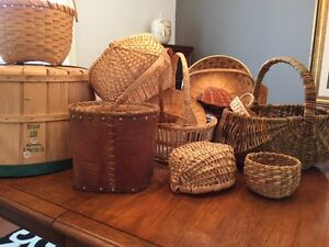 Baskets from the Collection of a Professional Basket Craftsman