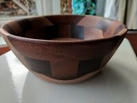 Lovely handcrafted multi tone wooden bowl