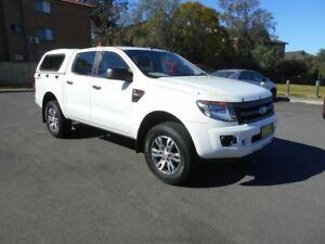 2014 Ford Ranger PX XL 2.2 Hi-Rider (4x2) White 6 Speed Manual Crew Cab Pickup Bankstown Bankstown Area Preview