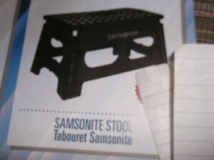Samsonite folding stool new never used. .