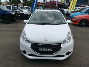 PEUGEOT 208 A9 ALLURE HATCHBACK AUTO 2014 1.6L PETROL WHITE LOG BOOKS POWER OPTION AIR CONDITION ALL