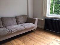 Stylish, modern, Taupe Conran Shop 3 seat sofa