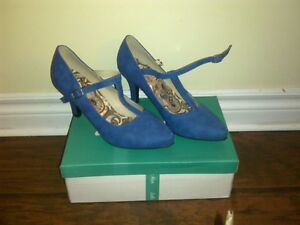 ModCloth Blue T-strap Pumps