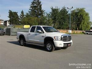 2008 DODGE RAM 2500 LARAMIE CREW CAB SHORT BOX 4X4 LEATHER HEMI