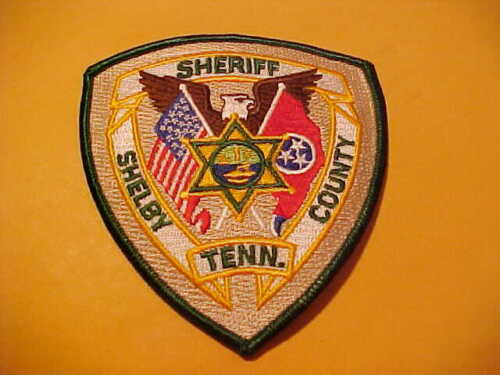 SHELBY COUNTY TENNESSEE POLICE PATCH SHOULDER SIZE UNUSED