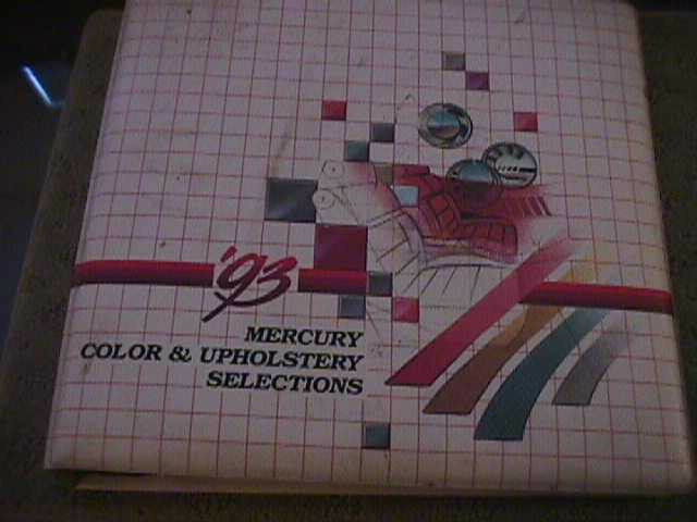 SCARCE 1993 MERCURY DEALER COLOR AND UPHOLSTERY SHOWROOM ALBUM