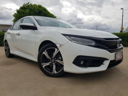 2016 Honda Civic 10th Gen MY16 RS White 1 Speed Constant Variable Sedan Garbutt Townsville City Preview