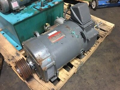 General Electric 15 Hp Dc Motor 11503450 Rpm 240v Type Cd259at W Blower