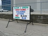 Free standing portable signs,..