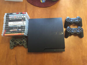 PS3 160GB + 3 Controllers + 13 Games