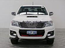 2014 Toyota Hilux KUN26R MY14 SR5 Black (4x4) White 5 Speed Automatic Utility Jandakot Cockburn Area Preview