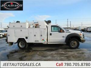 2012 Ford F-550 XLT Service truck with 5005EH Crane & 11FT Body