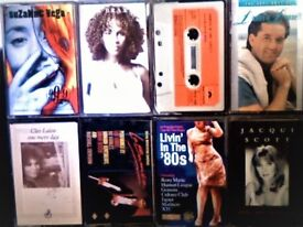 S VEGA, T BRAXTON, VANGELIS, D O'DONNELL, CLEO LAINE, LA BAMBA, '80s HIT COMPILATION CASSETTE TAPES.