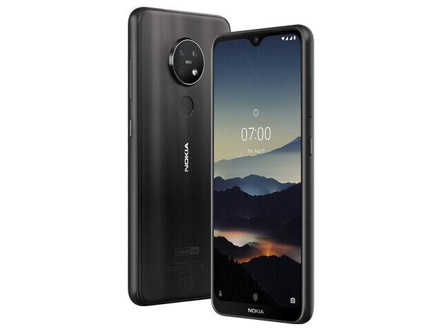"Android Phone - Nokia 7.2 Smartphone - 6.3"" 128GB LTE Dual SIM Unlocked (Black)"