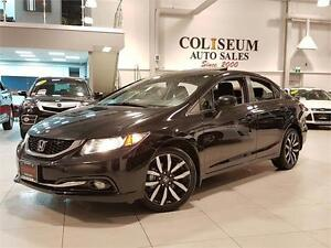 2013 Honda Civic Sdn TOURING-AUTOMATIC-LEATHER-SUNROOF-REAR CAM