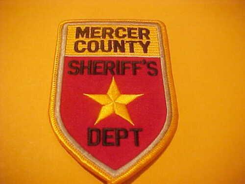MERCER COUNTY  NORTH  DAKOTA POLICE PATCH SHOULDER SIZE NEW TYPE 1