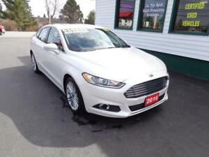 2016 Ford Fusion SE AWD Pearl White only $174 bi-weekly all in!