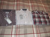 3 New M&S Shirts - - £10 for all 3 - - - Size Small - - -