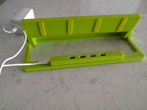 Lime Green charger holder for iphones and android devices