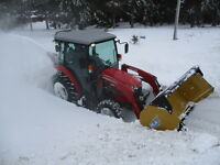 Snow removal , west Riverview area , tractor/ blower