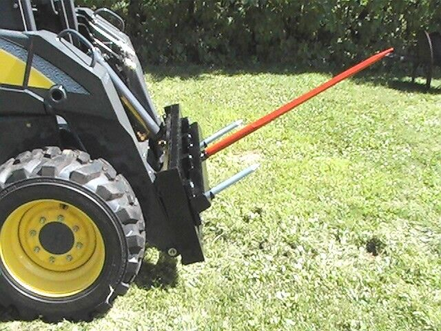 """Skid Steer Bale Spear Attachment 39"""" Prong Hay Bale Handler CAT-M"""